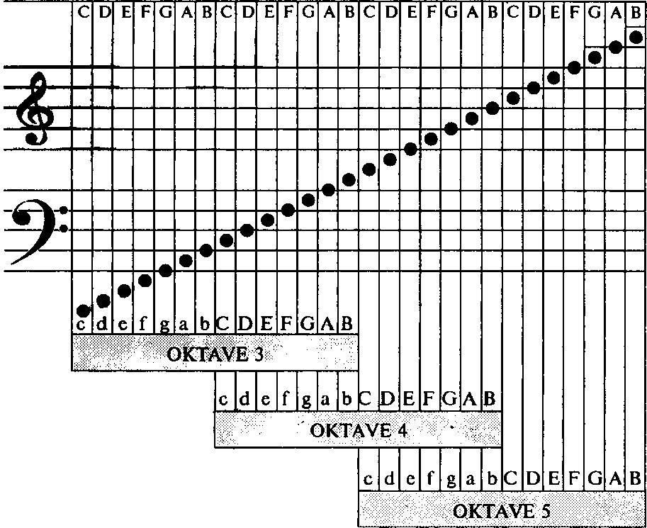 Приведем схему нот и номеров